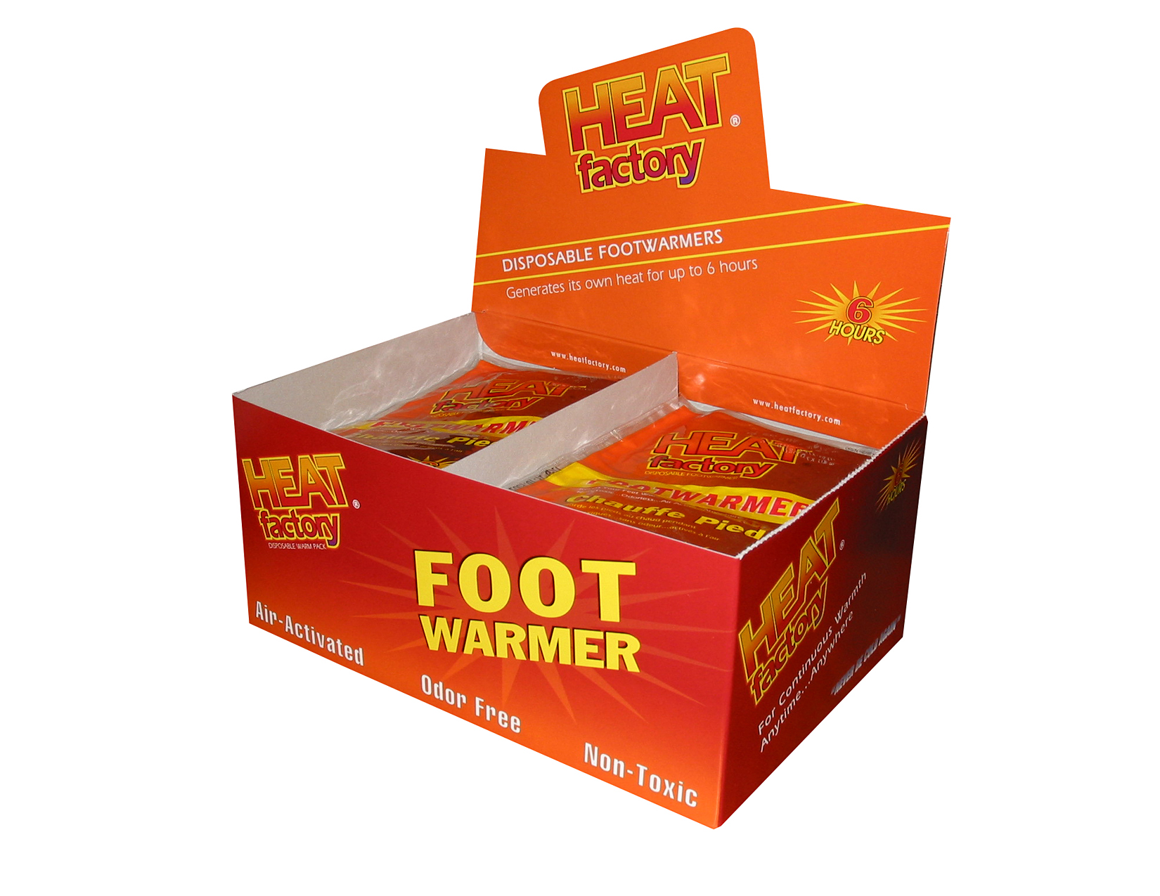 Heat Factory Footwarmer Display Box